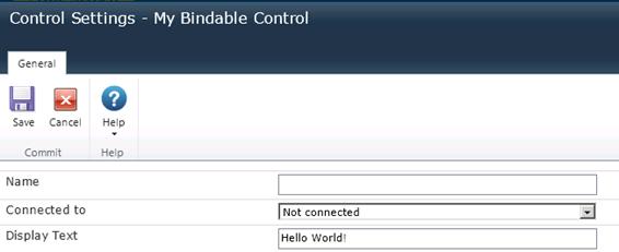 Control Settings Listing