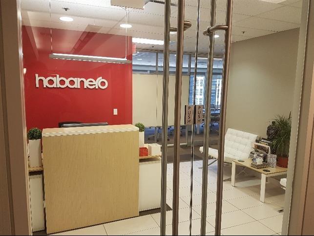 Our Calgary office door