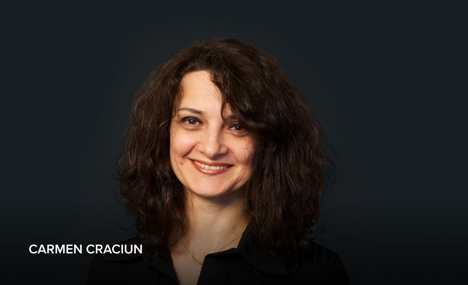 A headshot of Carmen Craciun, Infrastructure Architect